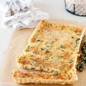 pancetta and chive quiche recipe