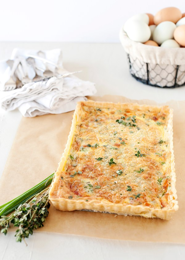 thyme and pancetta quiche recipe