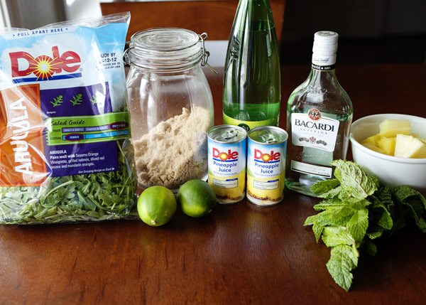 pineapple arugula mojito recipe
