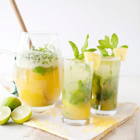 pineapple arugula mojito recipe