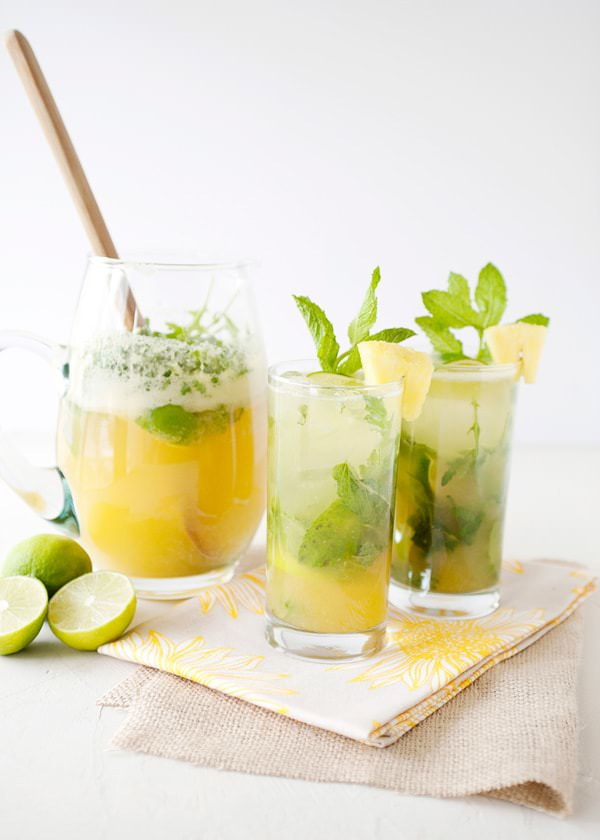 Pineapple Arugula Mint Mojitos Recipes — Dishmaps