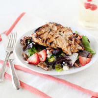 Strawberry Salad with Honey Poppy Seed Dressing