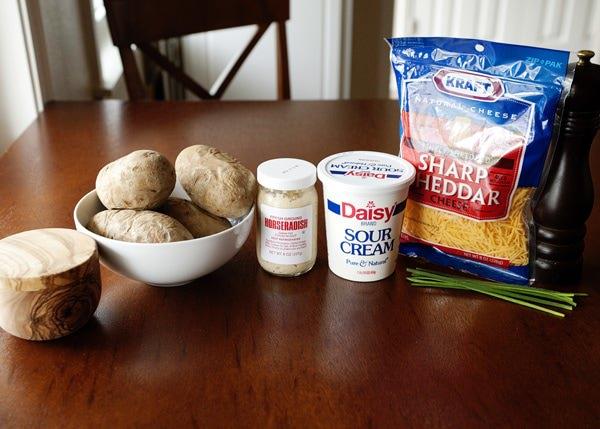 horseradish and chive twice baked potatoes