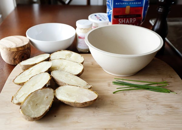 horseradish and chive twice baked potatoes recipe