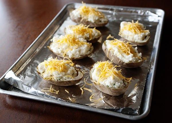 horseradish and chive twice baked potatoes recipe