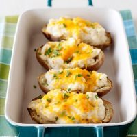 horseradish and chive twice baked potatoes