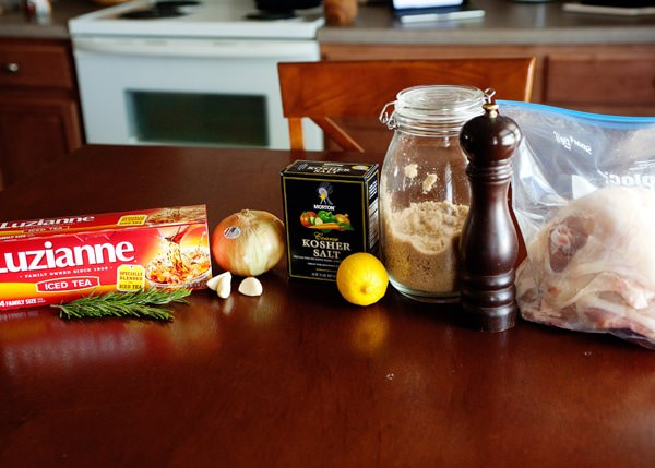 sweet tea brined chicken recipe