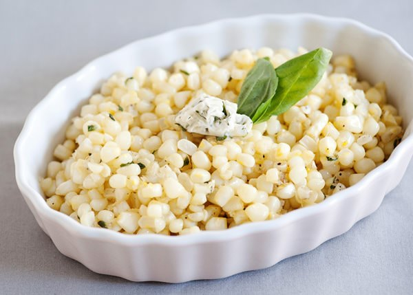 sauteed corn with basil butter recipe
