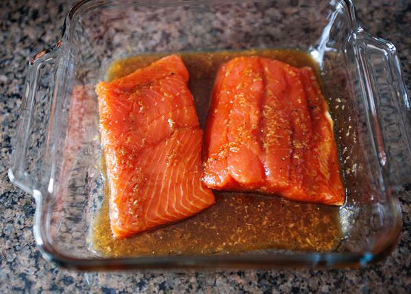quick broiled ginger salmon recipe