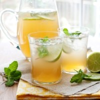 mint lime tea cooler recipe