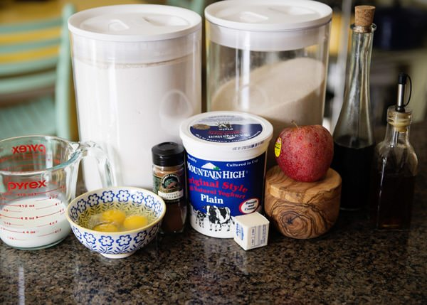 apple skillet popover with maple yogurt cream recipe