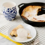apple skillet popover with maple yogurt cream recipe
