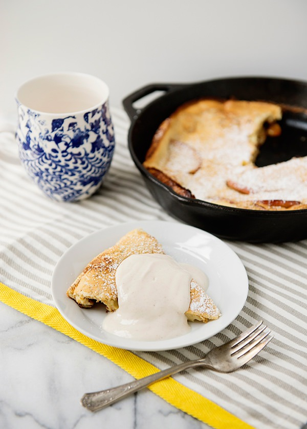 Apple Skillet Popover with Maple Yogurt Cream