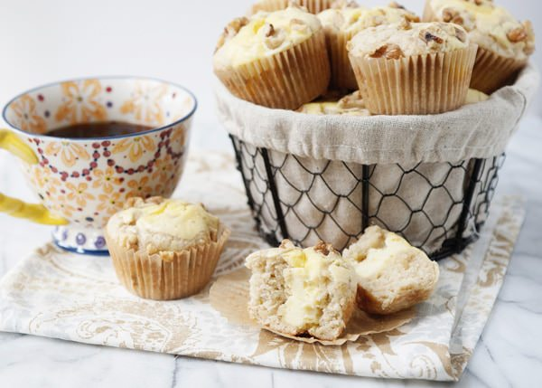 Banana Cream Cheese Muffins - Baked Bree