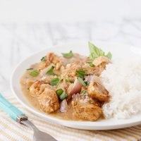 basil chicken in coconut sauce recipe