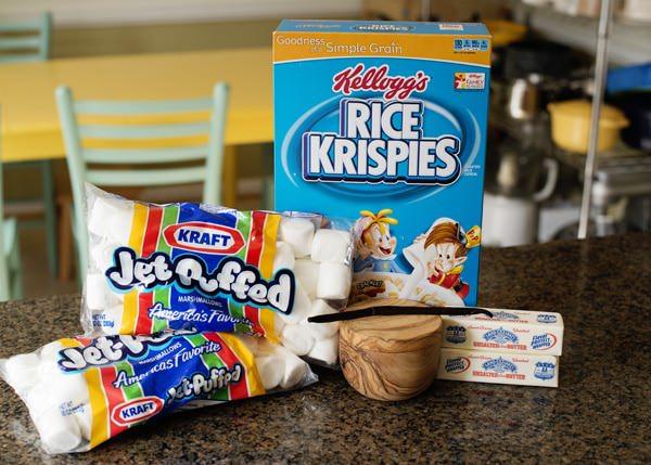 flour brown butter vanilla bean rice krispie treats
