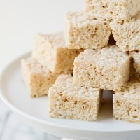 flour brown butter vanilla bean rice krispie treats