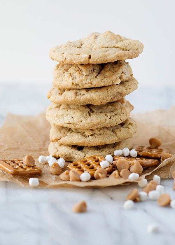 pretzel marshmallow peanut butter chip cookie recipe