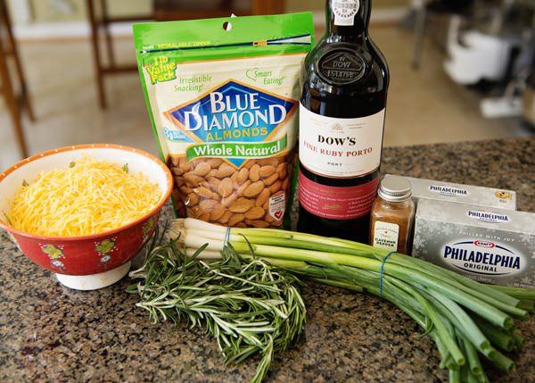 almond cheddar pinecone recipe