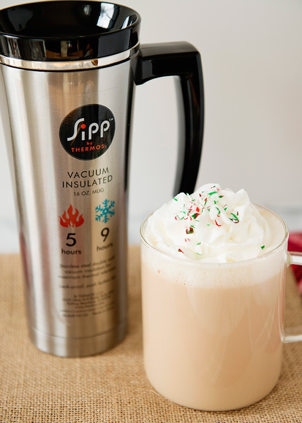 White Chocolate Peppermint Mocha Baked Bree