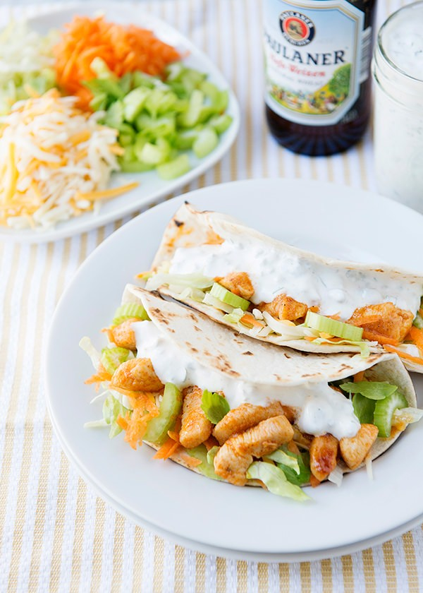Recipe: Buffalo chicken tacos