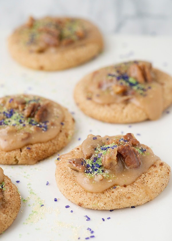 king cake cookies with praline pecan recipe