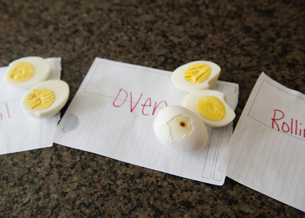 hard boiled eggs 3 ways
