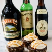 Guinness Irish Cream Cupcakes