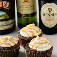 Guinness Irish Cream Cupcakes