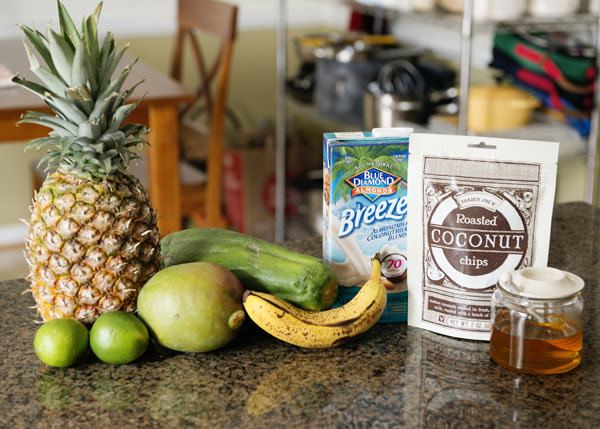 Almond Breeze Tropical Sunshine Smoothie | Baked Bree