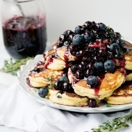 lemon thyme pancakes with blueberry sauce recipe