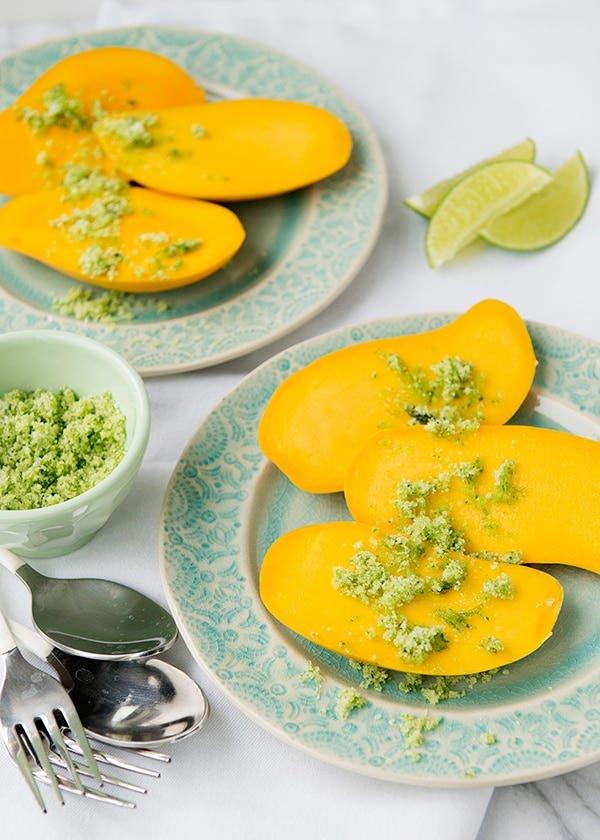 Mango with Basil Sugar Salt