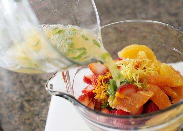 citrus mint fruit salad recipe
