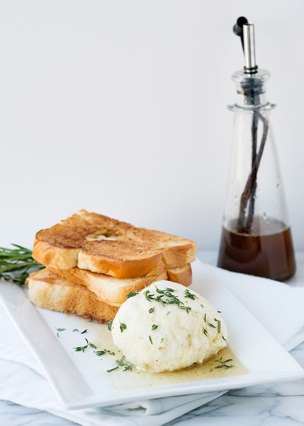 ricotta with honey and herbs recipe