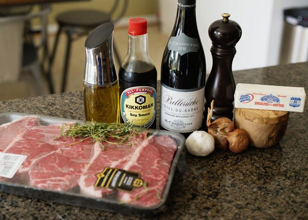 red wine steak recipe