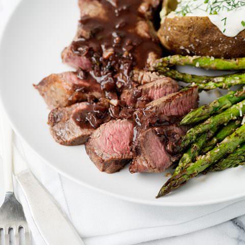 Red Wine Strip Steaks