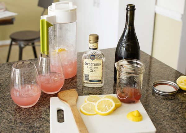 rhubarb fizz cocktail recipe