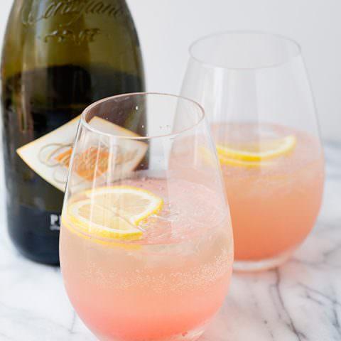Rhubarb Fizz Cocktail
