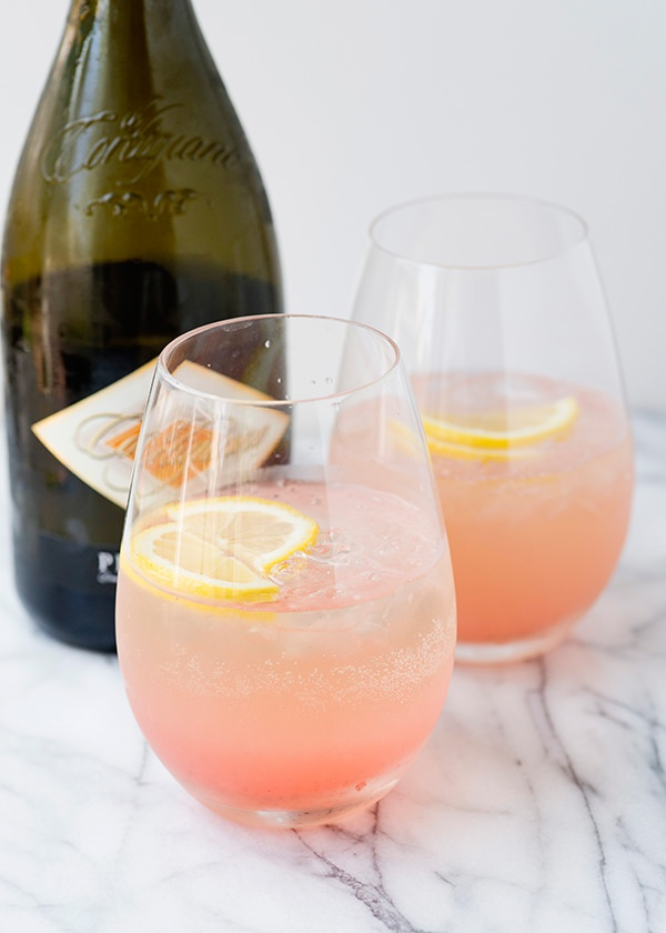 rhubarb fizz cocktails recipe