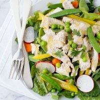 Spring Salad with Roasted Chicken