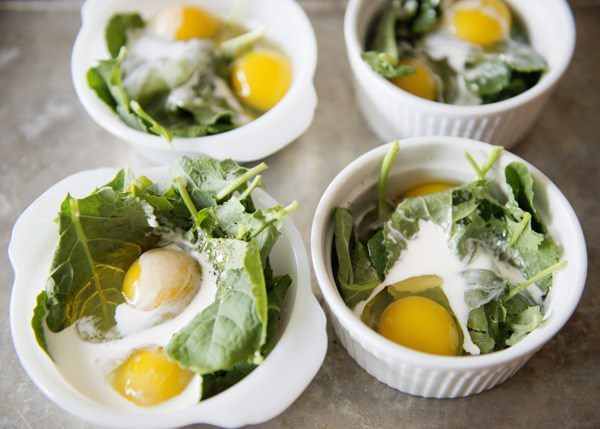 baked egg and kale cup recipe