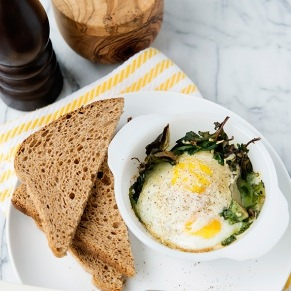 Baked Egg and Kale Cups recipe