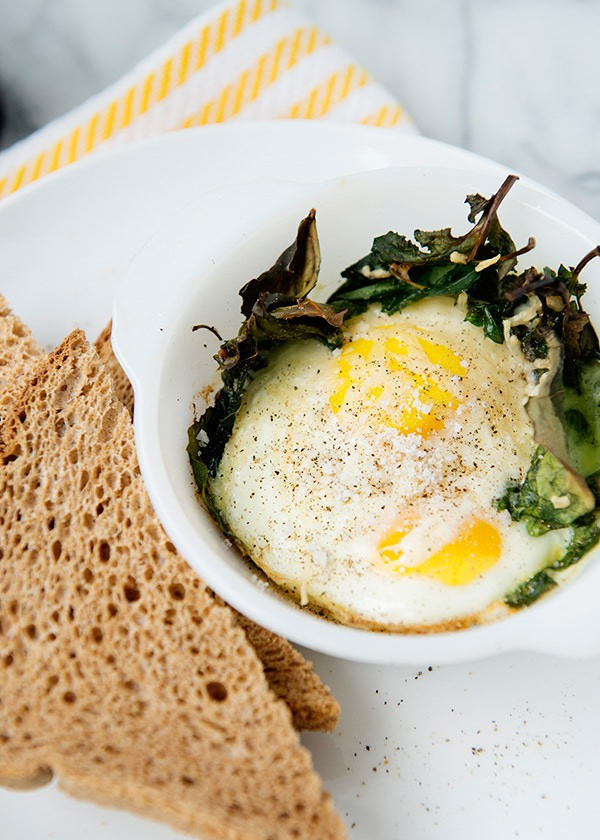 baked kale and egg cup recipe