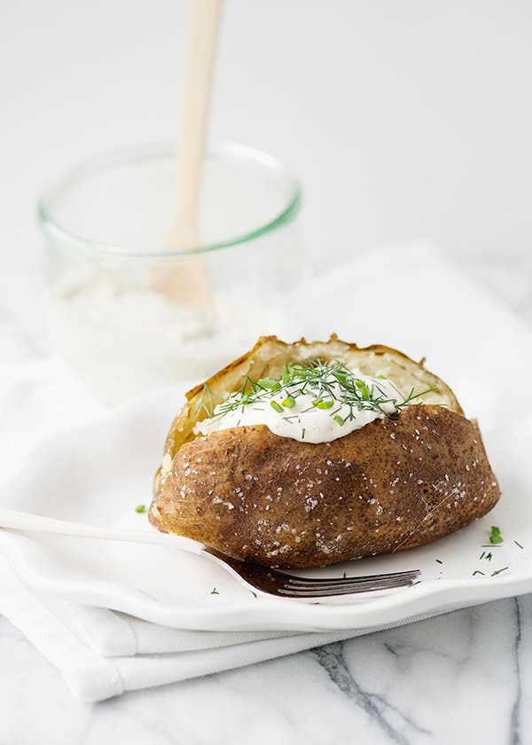 baked potatoes with herb sour cream recipe