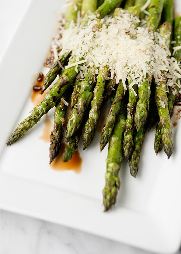 Grilled Asparagus with Balsamic and Parmesan - Baked Bree