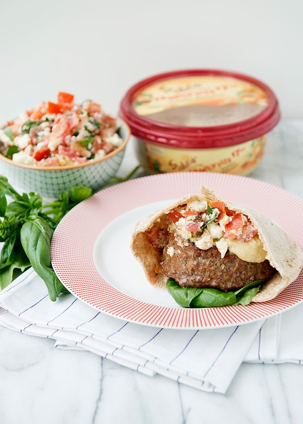 Mediterranean Pita Burgers recipe