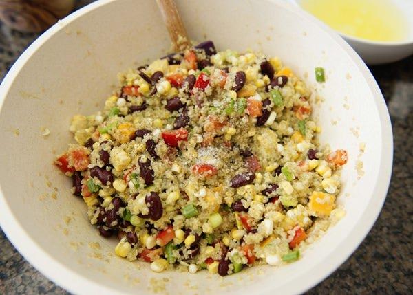 Pork Tenderloin and Mexican Quinoa Salad with Honey Habanero Dressing Recipe