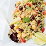Pork Tenderloin and Mexican Quinoa Salad with Honey Habanero Dressing Recipe