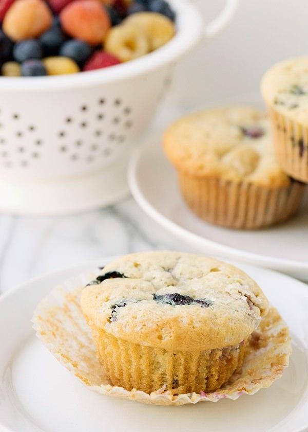 frozen mixed berry muffin recipe