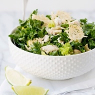 Kale Caesar Salad with Parmesan Crisp Croutons recipe